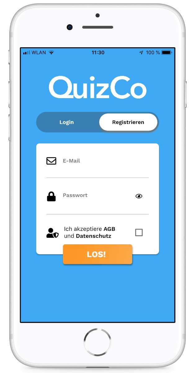 QuizCo Registrieren